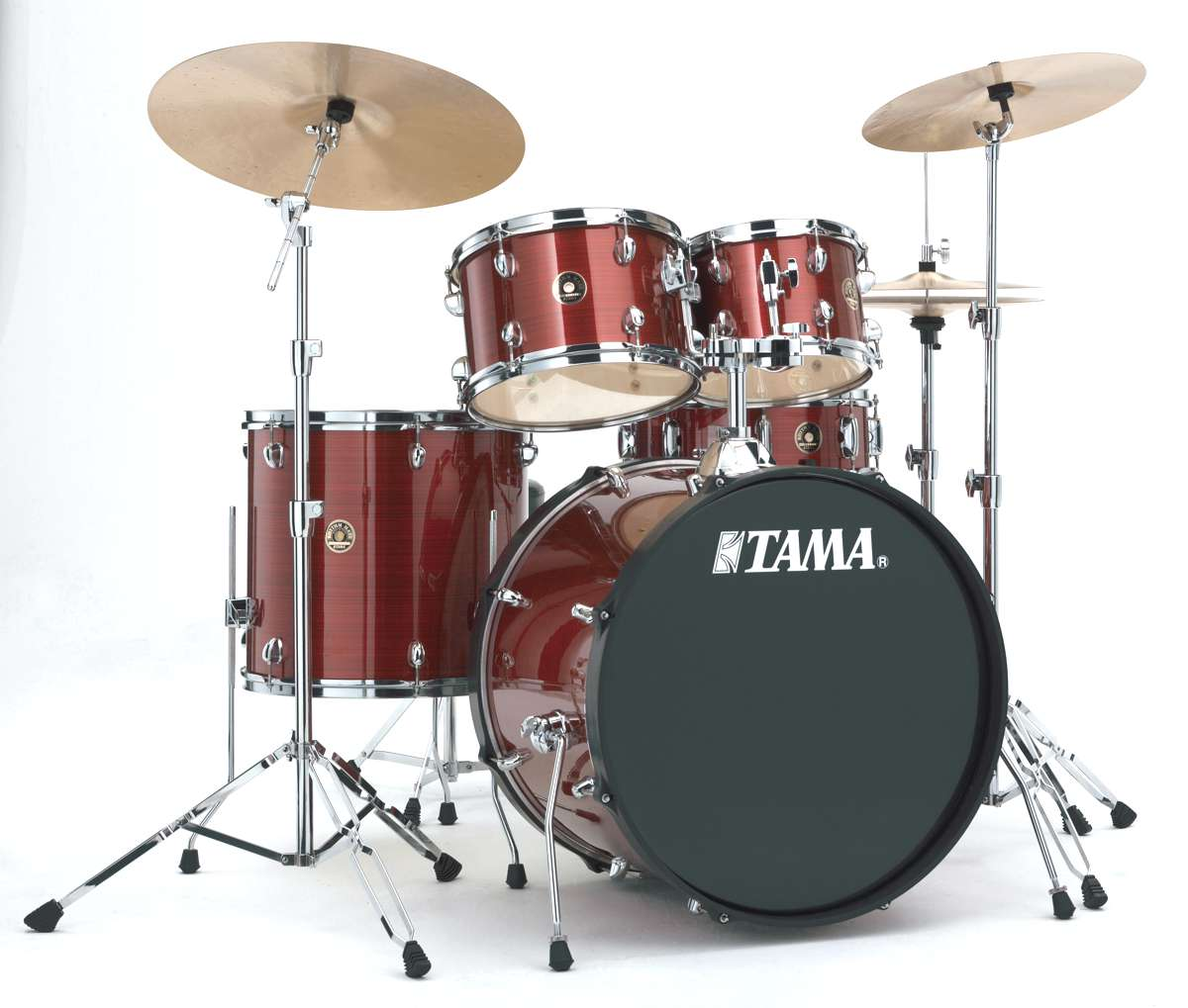 Tama Rm52kh6c-rds - Rhythm Mate 5 Futs 22/10/12/16 Avec Hardware Et Cymbales Red...