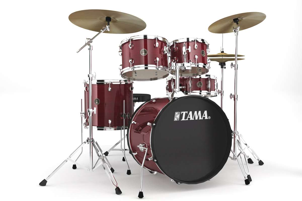 Tama Rm50yh6c-rds - Rhythm Mate 5 Futs 20/10/12/14 Avec Hardware Et Cymbales Red...